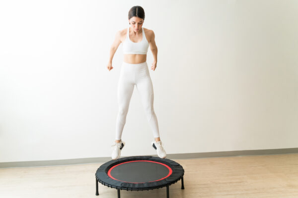 This $160 foldable trampoline will give you a cardio and strength workout in 30 minutes...