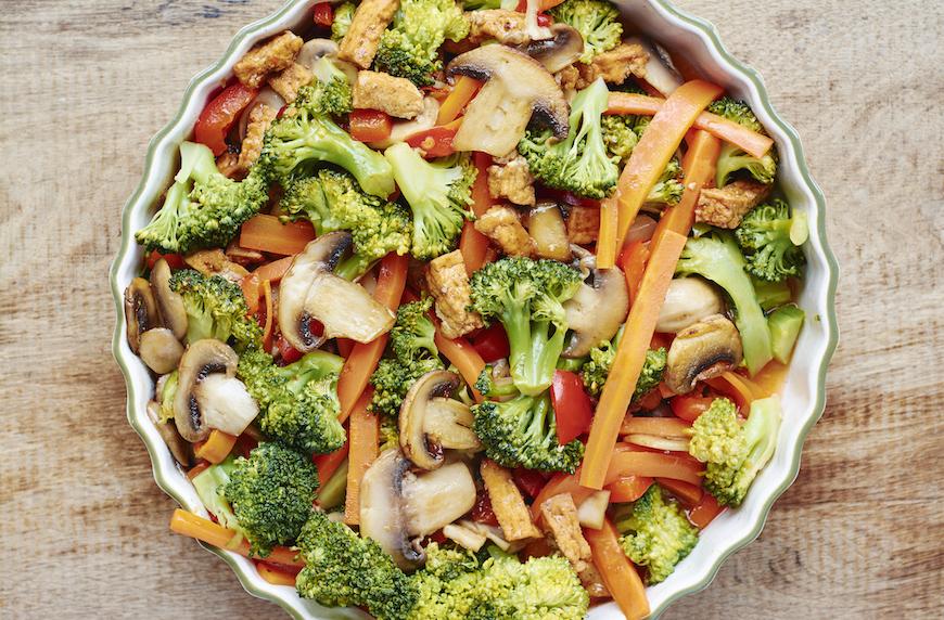 5-ingredient healthy recipe vegetable stir-fry