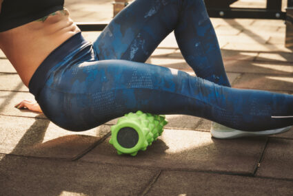 Here's how to foam roll all of the muscles that get tight from sedentary behavior