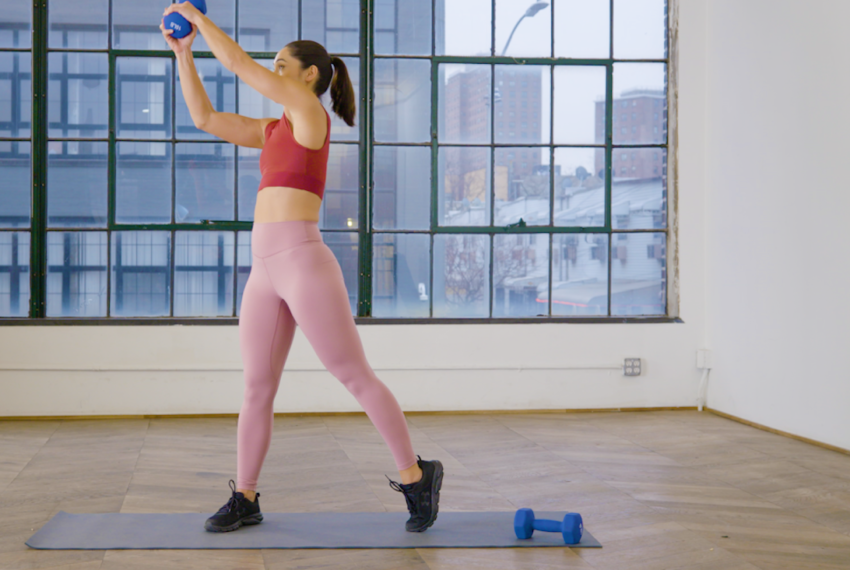 This Move Will Fire up Your Arms and Obliques With Nothing More Than a Single Dumbbell