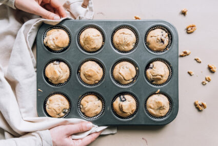 Grab a Can of Chickpeas and Make These High-Protein Vegan Blondie Muffins