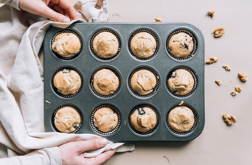 Thumbnail for Grab a Can of Chickpeas and Make These High-Protein Vegan Blondie Muffins