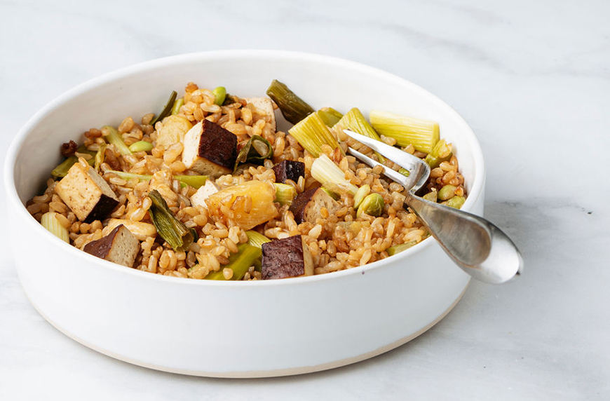 Thumbnail for This High-Fiber Sheet Pan Fried Rice Is a Perfect Healthy Meal Without the Mess