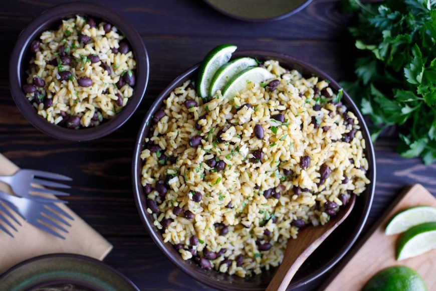 easy comfort food recipes, rice and beans