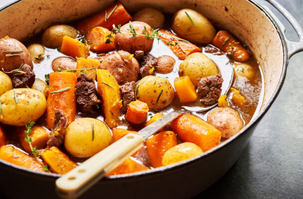 Give your boring beets a glow-up with this vegan 'beef' Bourguignon recipe