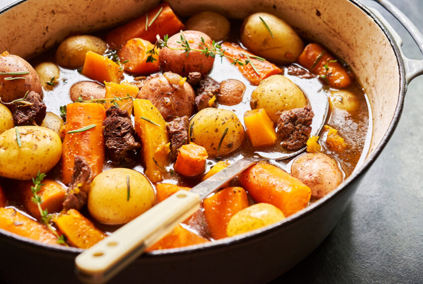 Give your boring beets a glow-up with this vegan 'beef' Bourguignon...
