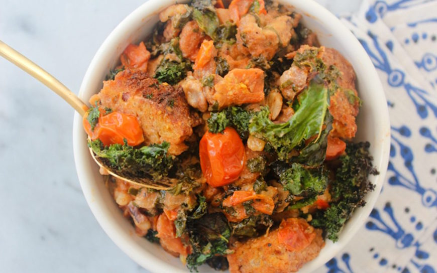 kale and canned tomato recipe