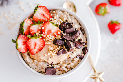 This whipped chocolate peanut butter oatmeal recipe is just the right amount of 'too much'