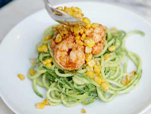 This creamy avocado zucchini noodles recipe is the ultimate summer dinner