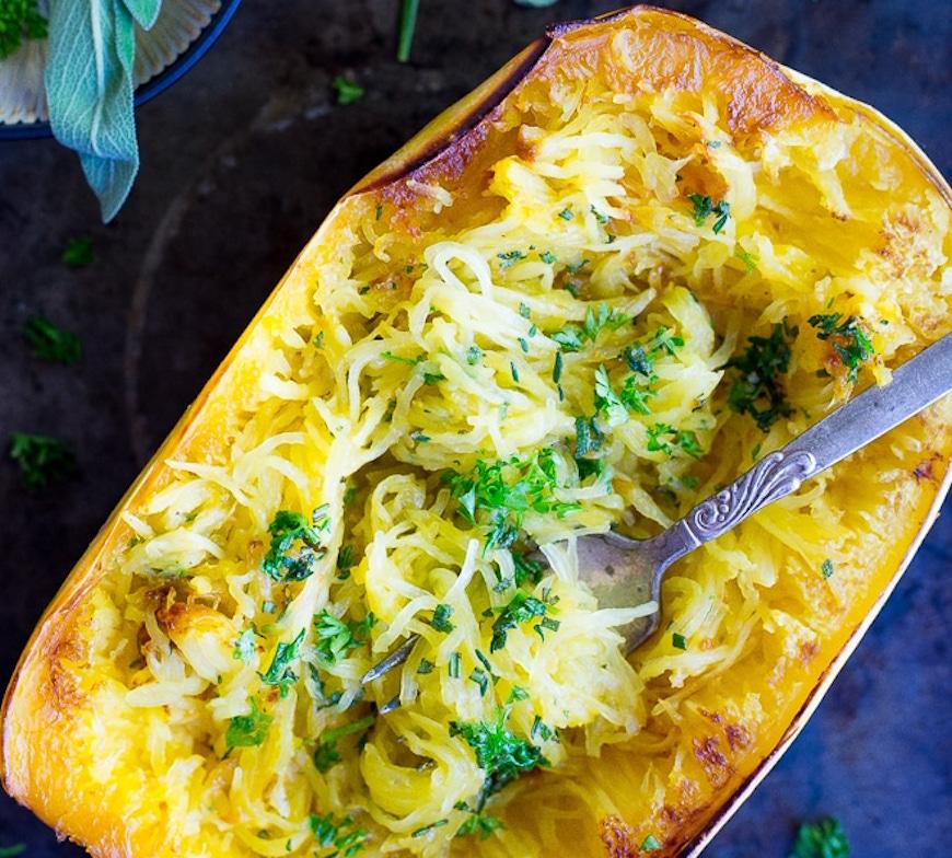 garlic spaghetti boats