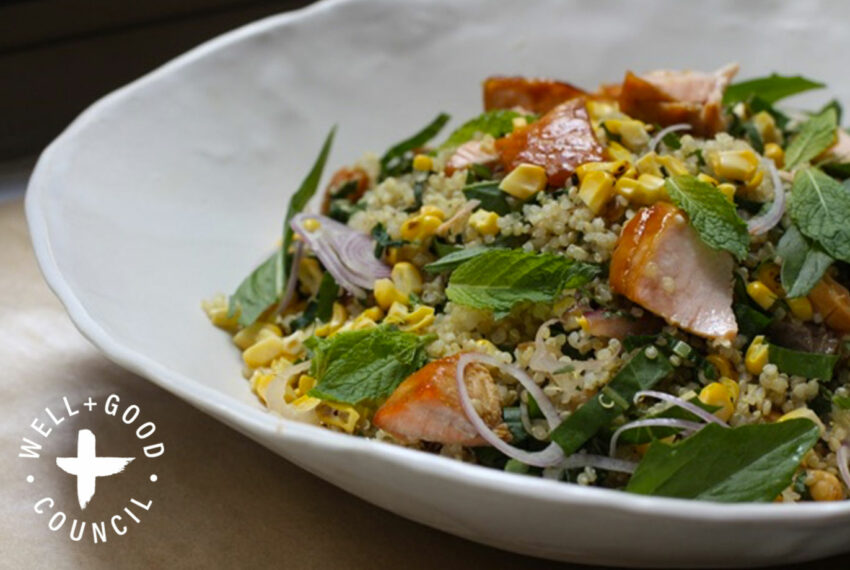 This Healthy Salmon and Quinoa Salad Is the Perfect Summer Dinner When It's Just Too Hot to Cook