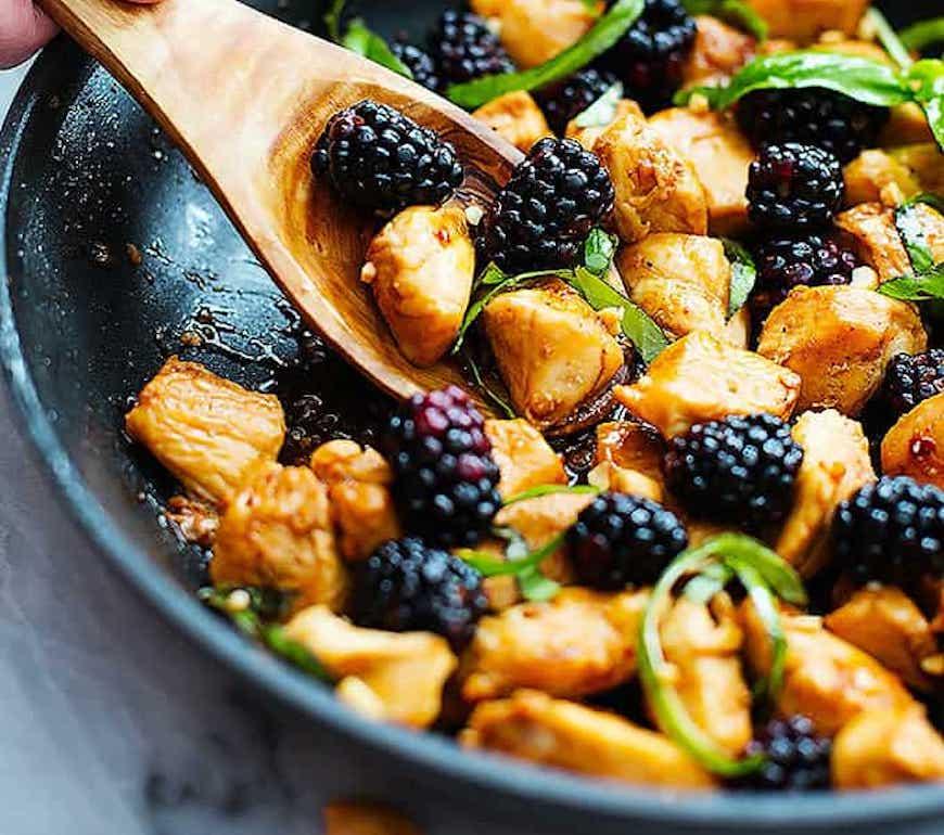 Thai blackberry chicken
