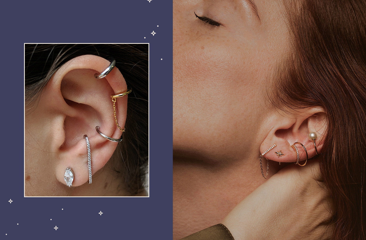 Thumbnail for A Constellation Piercing Is the Most Fun Way To Curate Your Ear Party