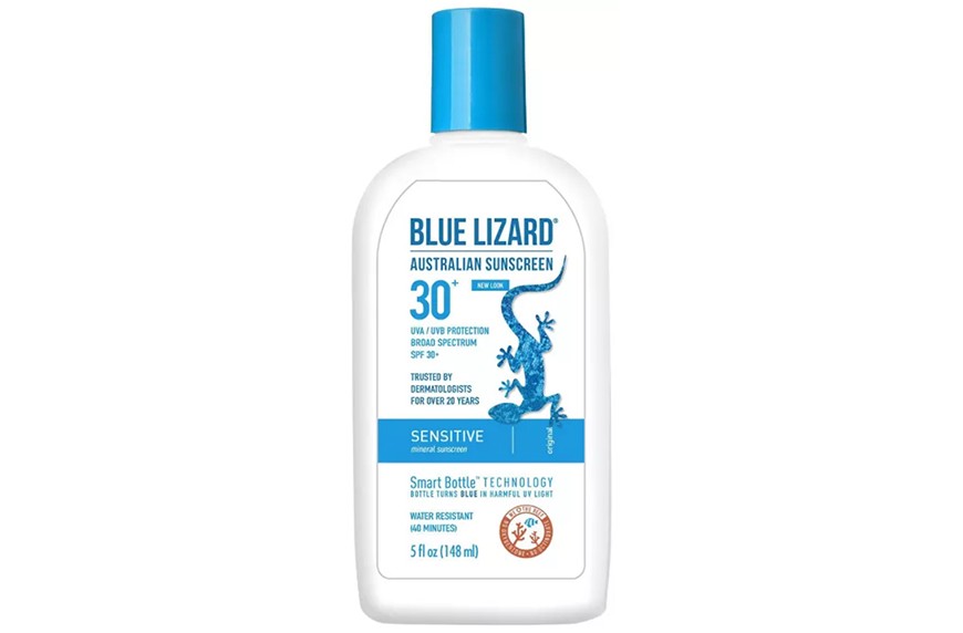 Blue Lizard Sensitive Sunscreen Lotion SPF 30, best beauty products under $15