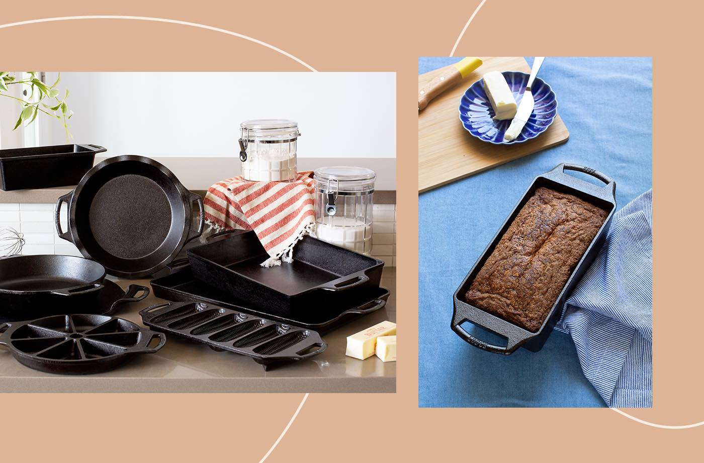 Thumbnail for Get All the Benefits of Cast Iron Cooking With Lodge's New Bakeware Set