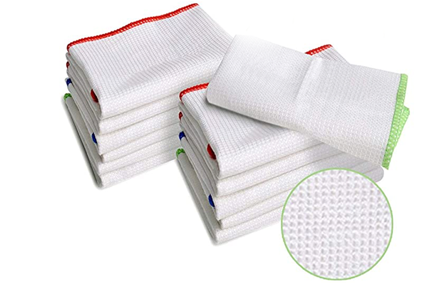 Luckiss 100% Bamboo Dish Cloths Cleaning Cloth
