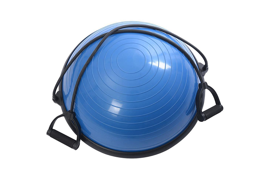 Zimtown Ktaxon Fitness Blue Yoga Stability Balance Trainer Ball with Resistance Bands
