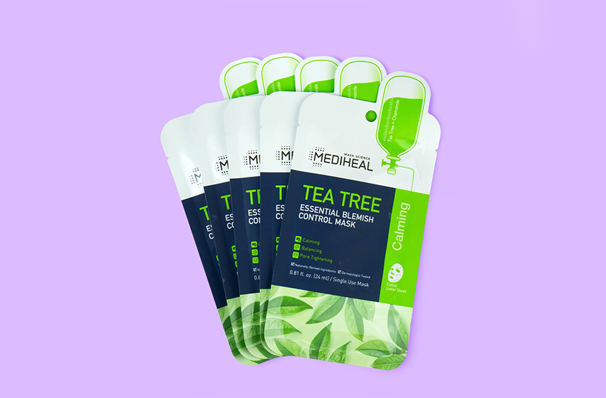 Mediheal Tea Tree Blemish Control Sheet Mask, 2020 soko glam best of k-beauty