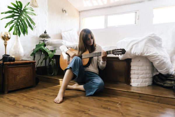 How Learning To Play the Guitar Became My Go-To Meditation Practice in Quarantine