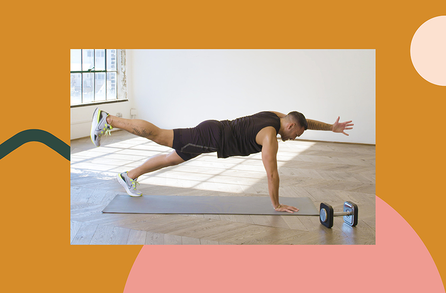 This 15-Minute Core-Back Sweat Sesh Is All That You Need to Do Today