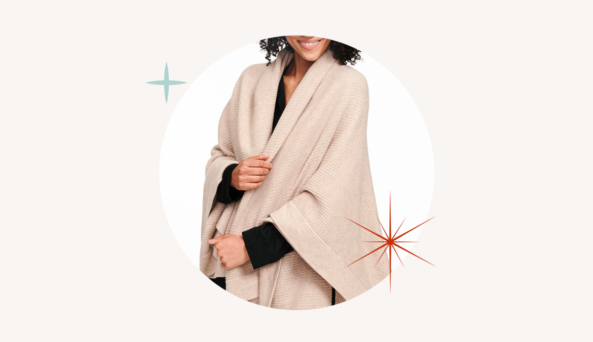 Naadam Recycled Cashmere Throw, stress relief gifts