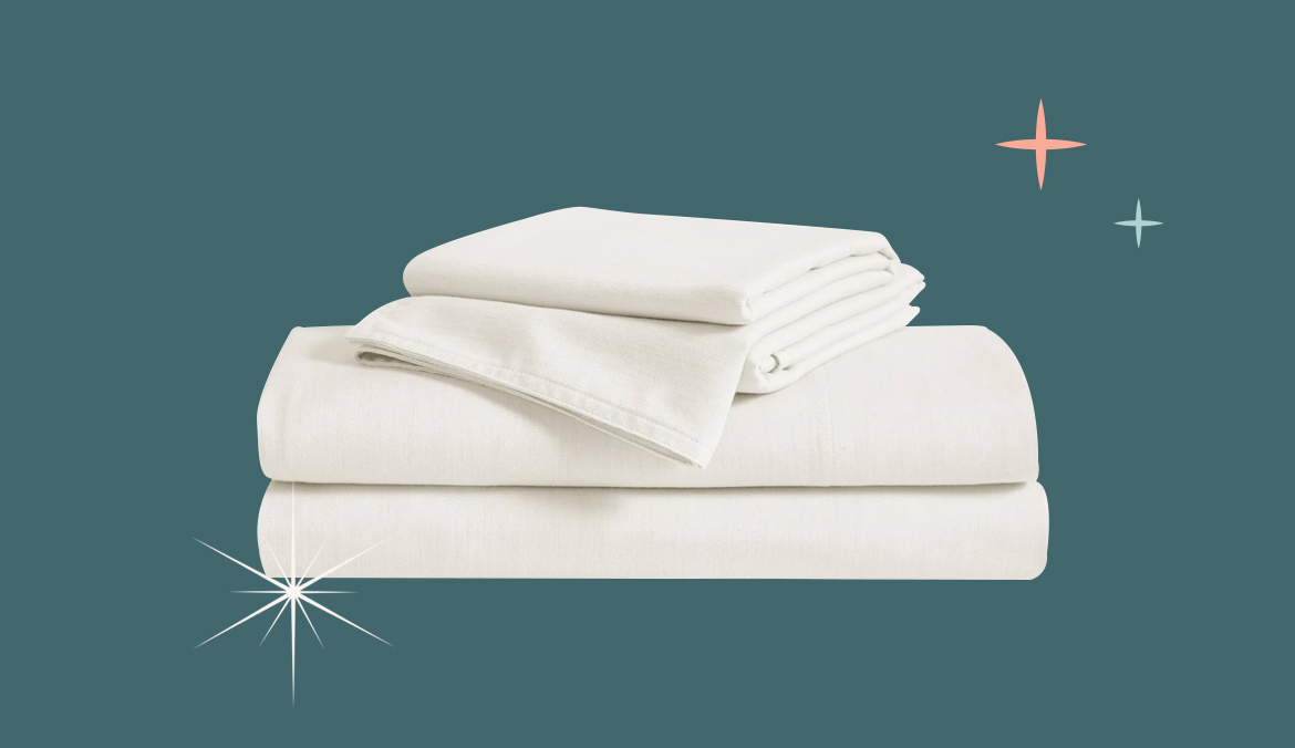 Brooklinen Heathered Cashmere Sheets, stress relief gifts