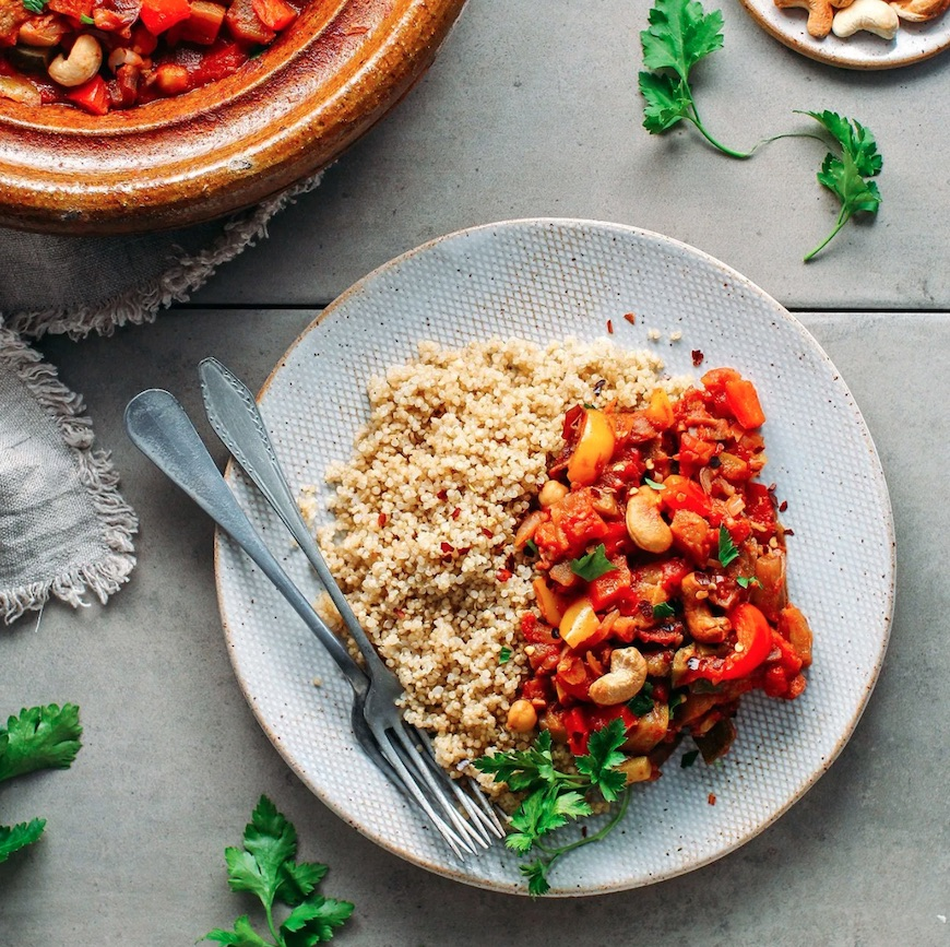 vegetable and cashew tagine
