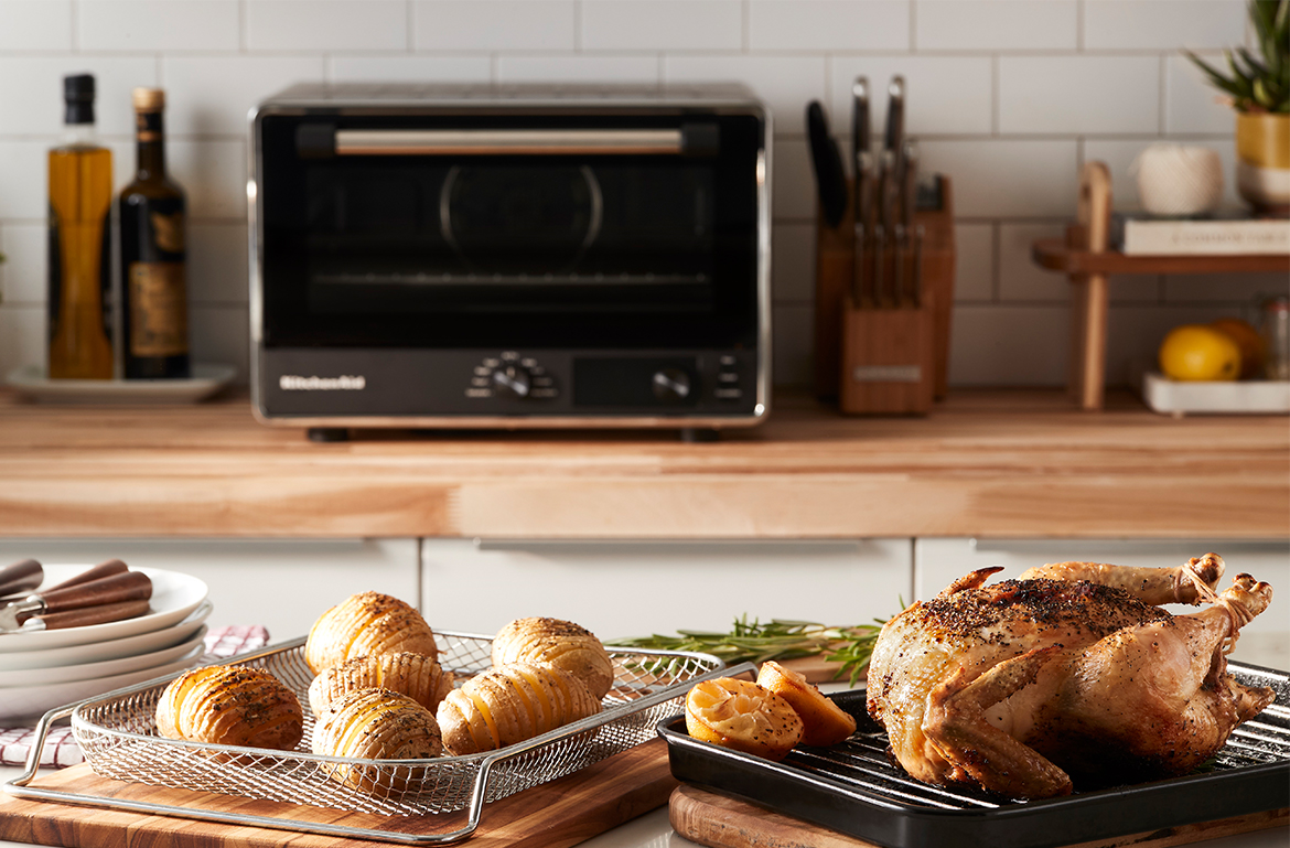 Thumbnail for This 9-in-1 Mini Appliance Is a Toaster Oven, Air Fryer, Bread Proofer, and More