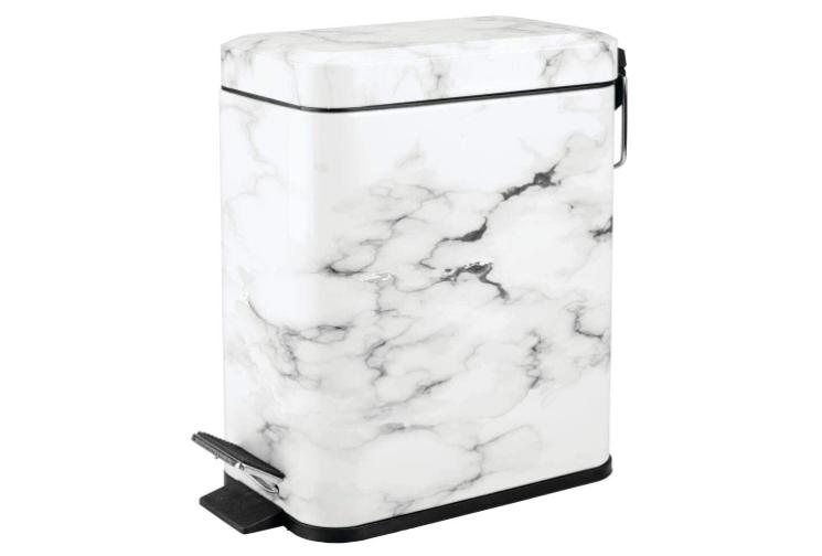 marble trash bin