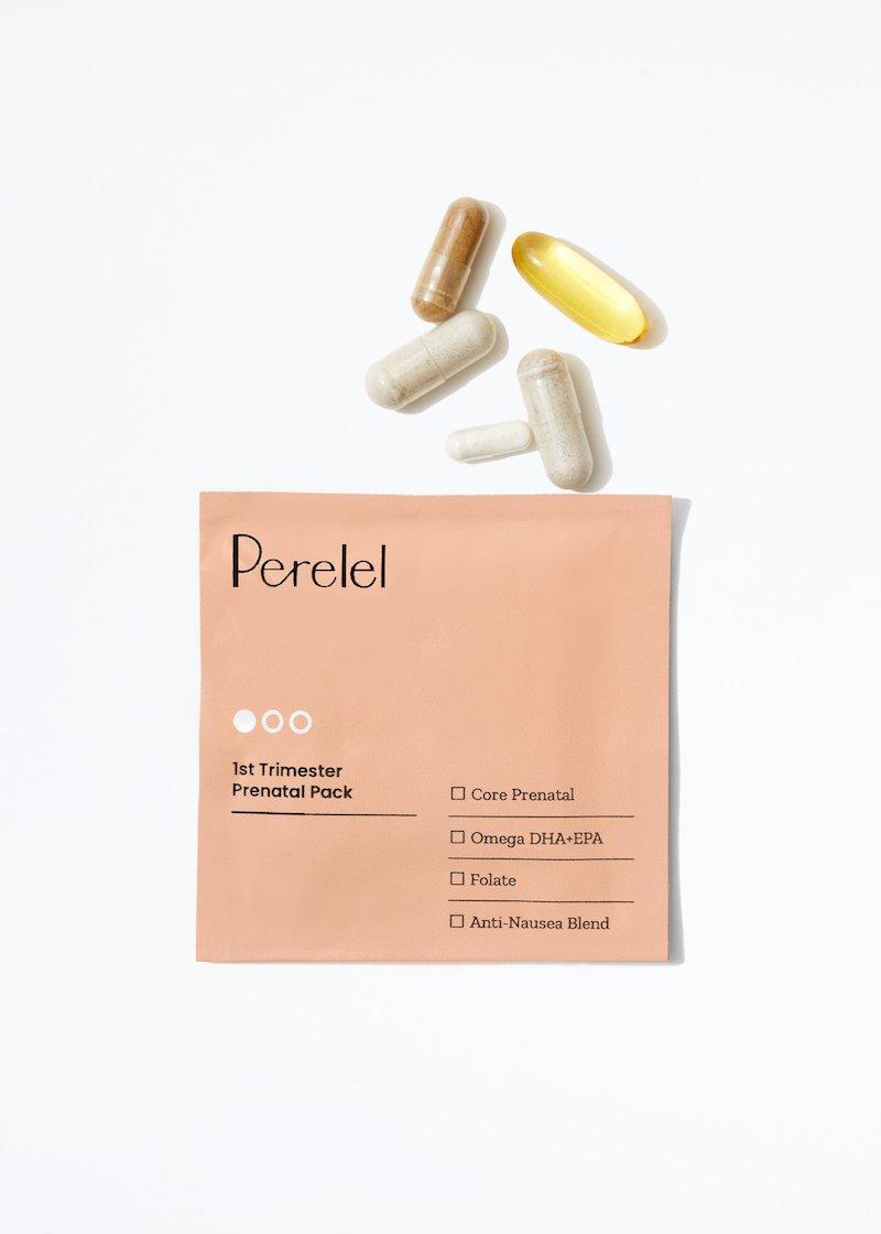 perelel prenatal vitamin first trimester pack