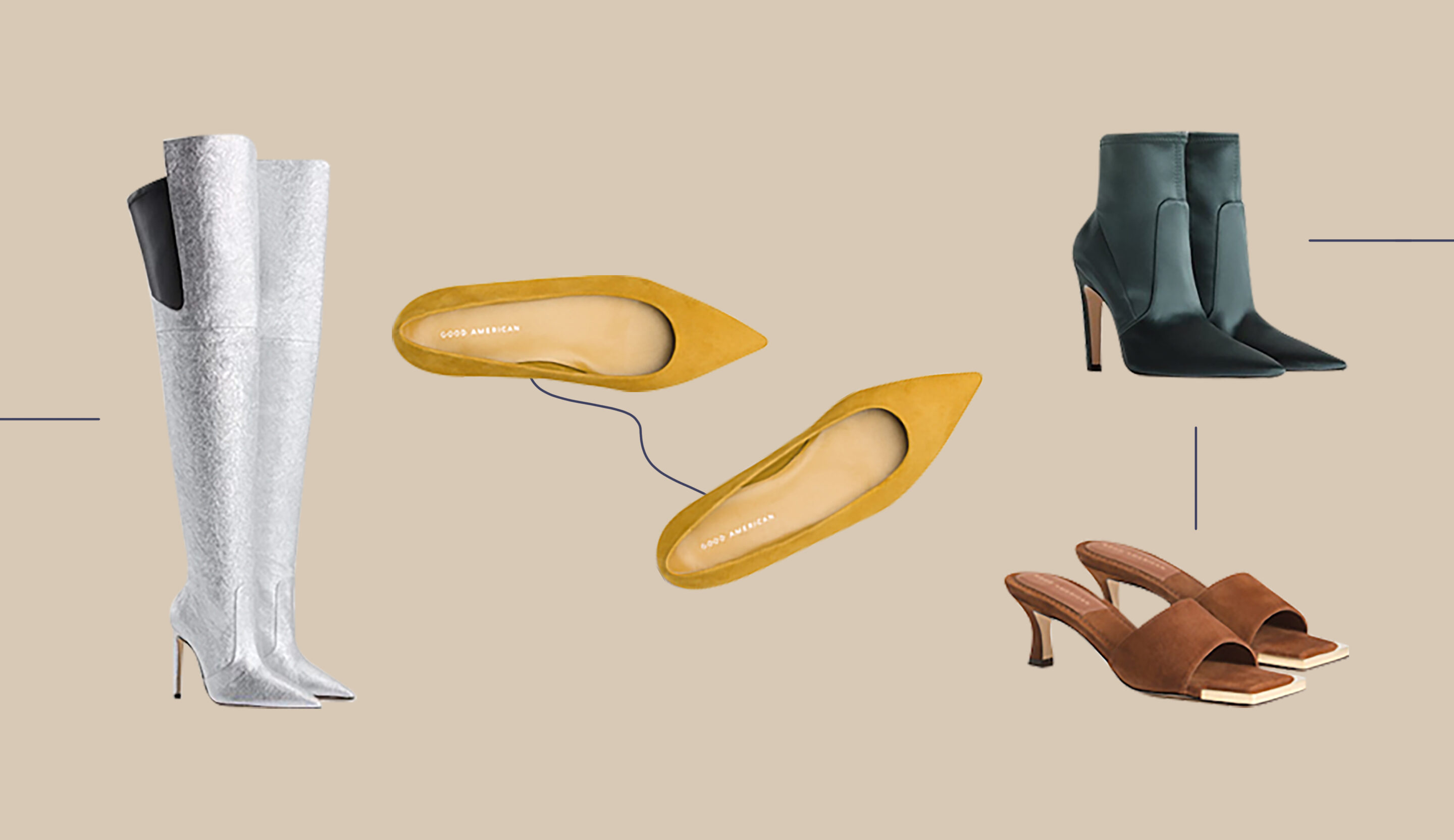 Thumbnail for Good American Just Launched a Size-Inclusive Shoe Line, Because the Average Woman's Shoe Size Is a 9