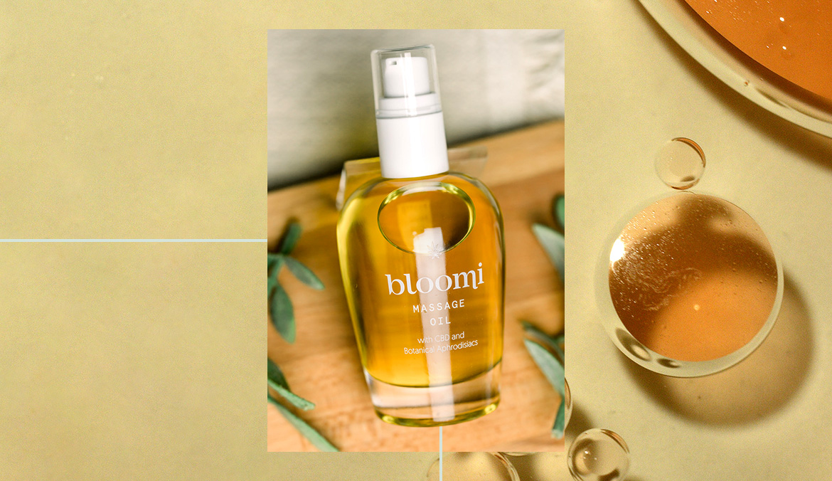 Thumbnail for Bloomi's CBD Aphrodisiac Massage Oil Proves Relaxation and Arousal Can Go Hand-in-Hand