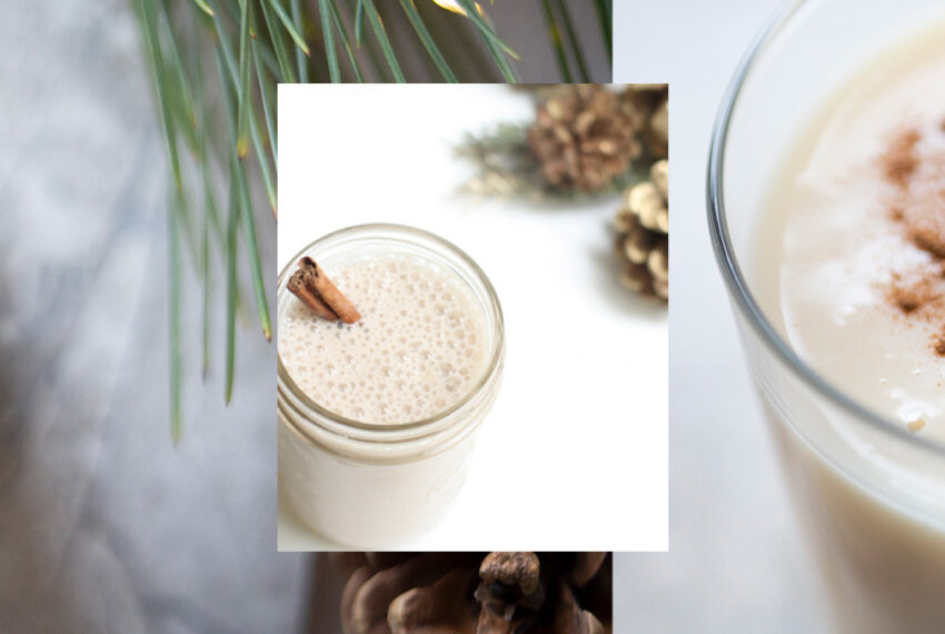 This Vegan Eggnog Smoothie Is Low in Sugar But Filled With Holiday Flavor