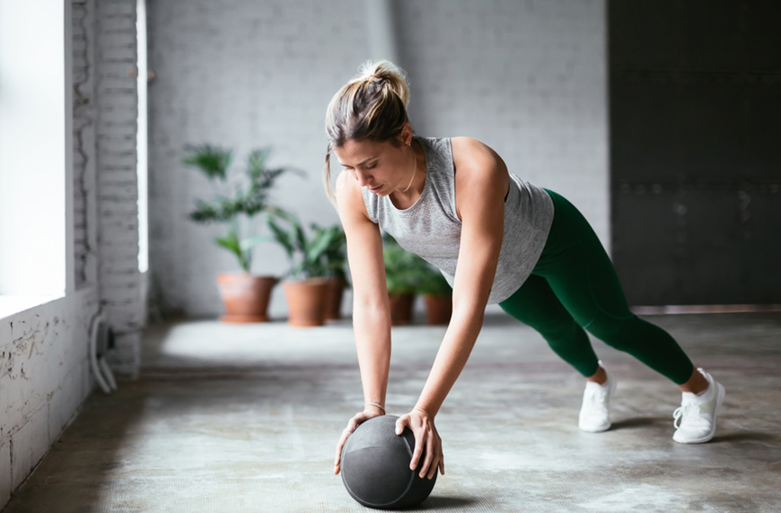 Thumbnail for 7 Beginner Medicine Ball Exercises To Fire Up Your Core