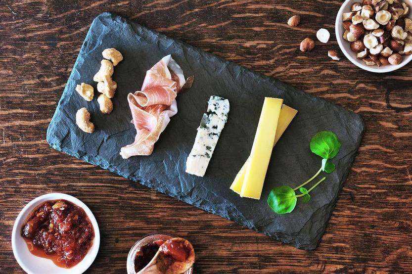brooklyn slate cheese and charcuterie board