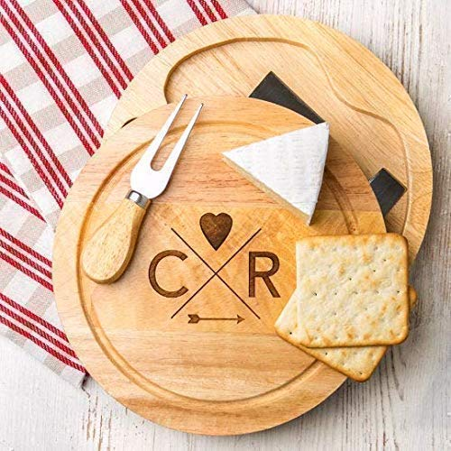 dust and things engraved personalized cheese board set