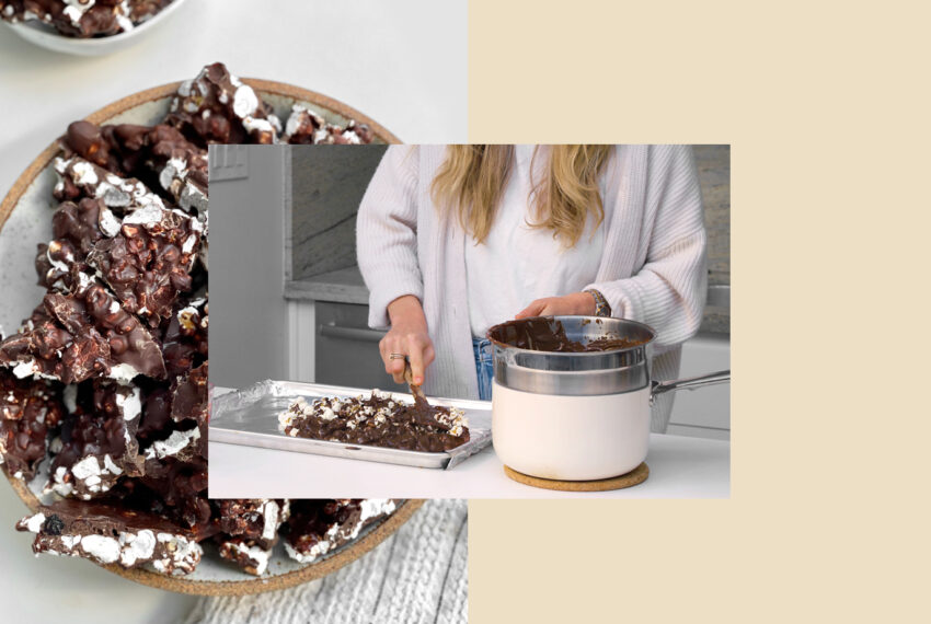 This Vegan Dark Chocolate Popcorn Bark Is Proof That Salty and Sweet Belong Together