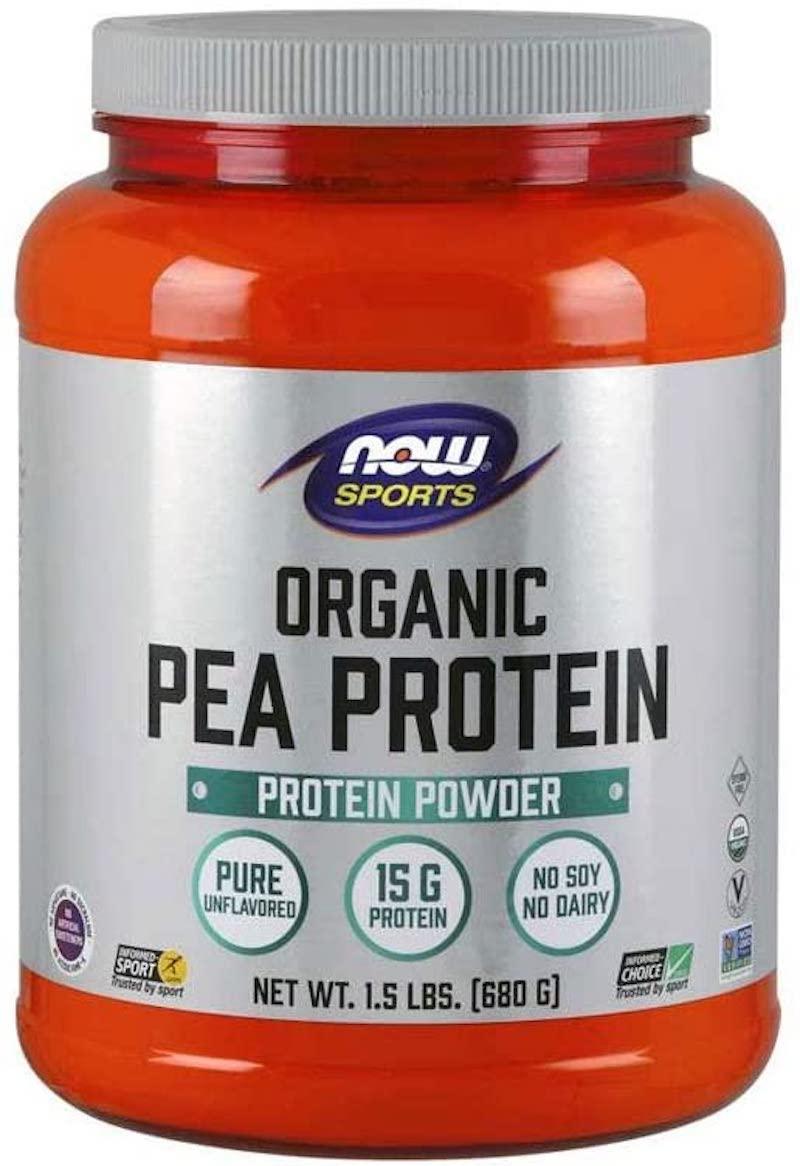 now sport organic pea protein