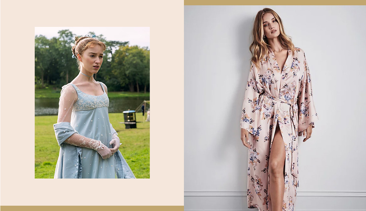 Thumbnail for 9 Pieces of 'Bridgerton'-Inspired Loungewear To Feel High Society Without Leaving Home All Winter