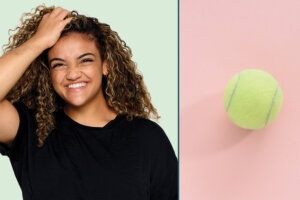 Why the Humble Tennis Ball Is Olympic Gymnast Laurie Hernandez's Recovery Tool of Choice