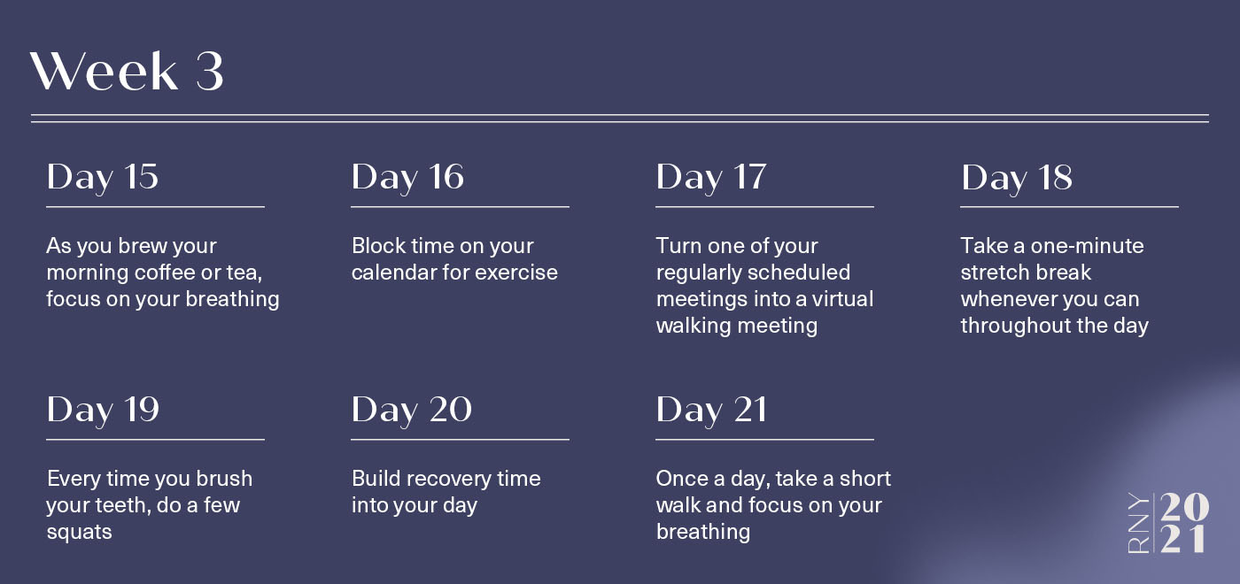 A week of movements for better sleep