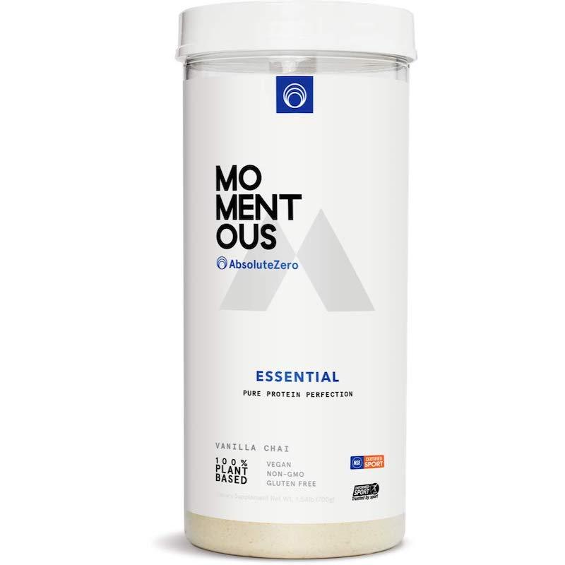 momentous vanilla chai vegan protein powder