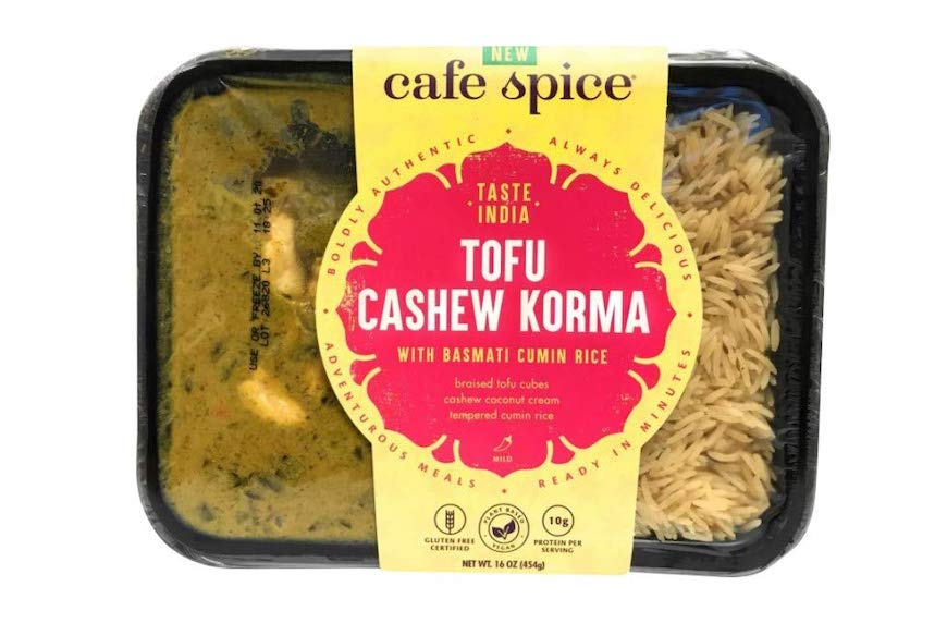 cafe spice microwaveable meal