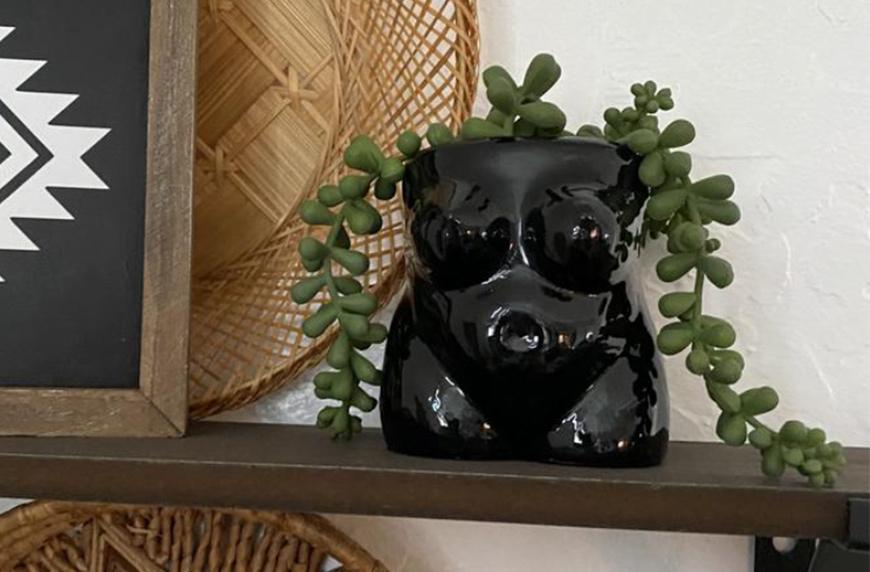 Plantashop Modern Female Body Planter Pot, under $30 planters