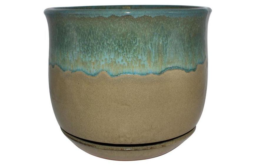 Trendspot 12 in. Dia Multi-Color Bella Ceramic Planter