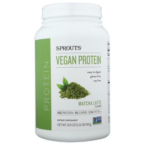 sprouts vegan protein powder matcha