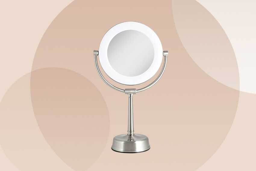 This Adjustable Makeup Mirror Lights Your Face From Every Angle, Making Application a Breeze