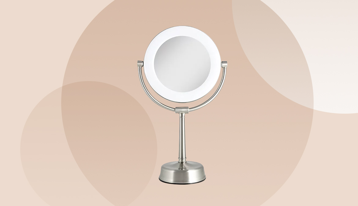 Thumbnail for This Adjustable Makeup Mirror Lights Your Face From Every Angle, Making Application a Breeze