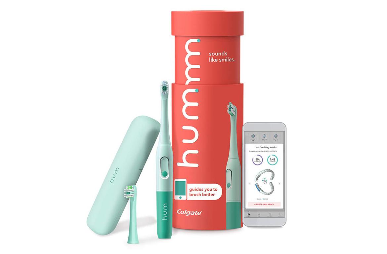 Colgate Hum Battery-Powered Toothbrush Starter Kit in Teal