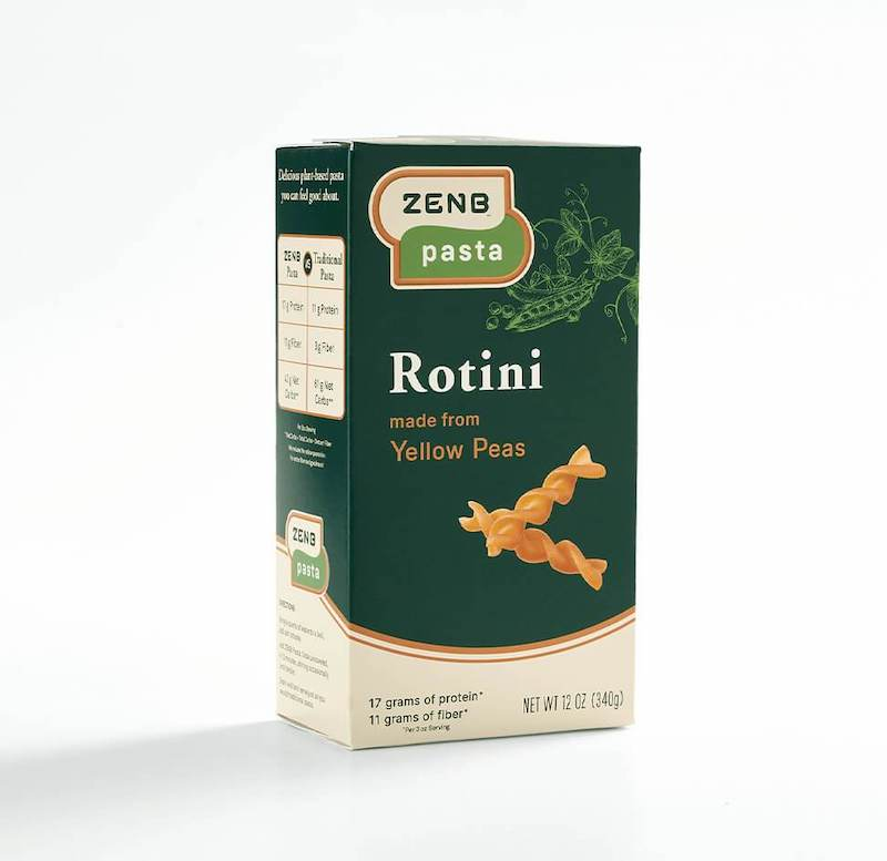 zenb yellow pea rotini